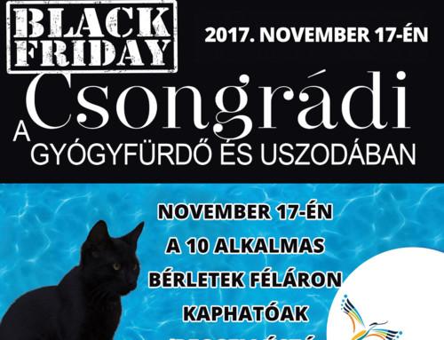 Black Friday a csongrádi fürdőben